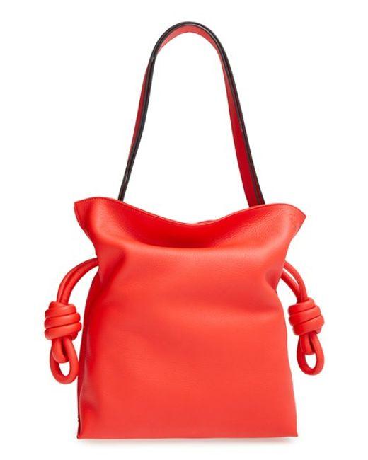 Loewe   Brown Small Flamenco Knot Shoulder Bag   Lyst