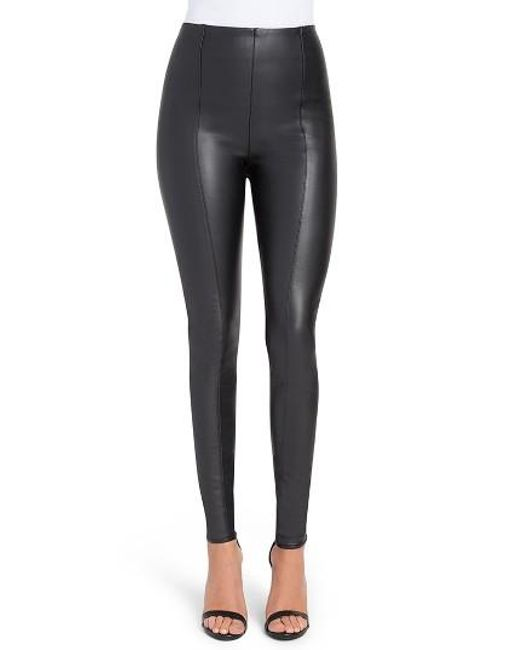 Lyssé | Black High Waist Faux Leather Leggings | Lyst