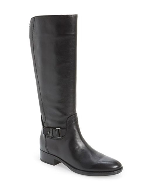 Geox | Black 'felicity' Adjustable Shaft Tall Riding Boot | Lyst