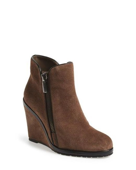 Vince Camuto | Brown 'jeffers' Wedge Bootie | Lyst