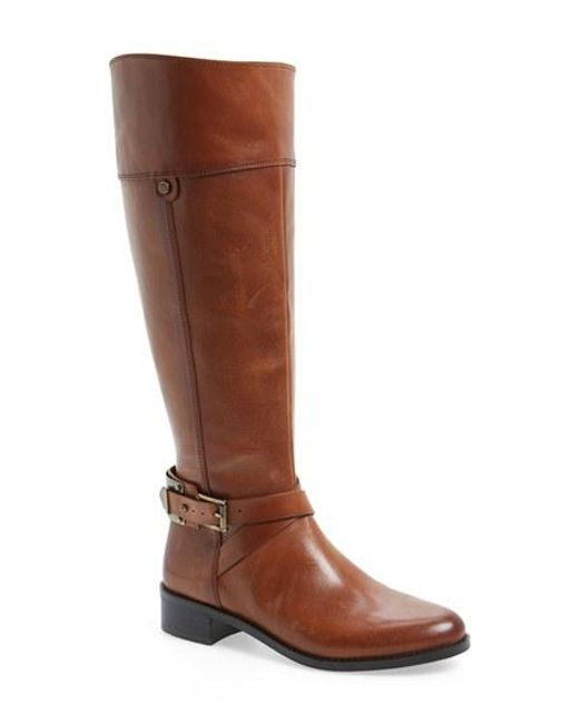 Vince Camuto | Brown 'jaran' Riding Boot | Lyst