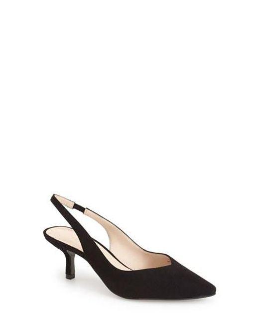 Pelle Moda | Black 'oasis' Pointy Toe Slingback Pump | Lyst
