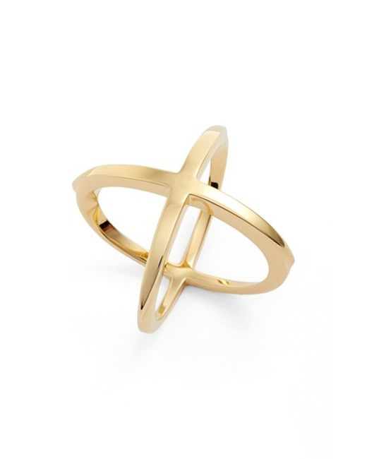 Elizabeth and James   Metallic 'windrose' Ring   Lyst