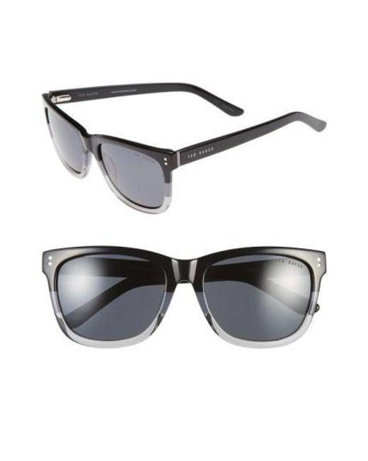 Ted Baker | Black 56mm Polarized Retro Sunglasses for Men | Lyst