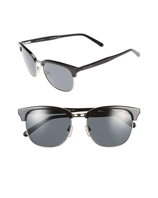 Ted Baker | Black 54mm Polarized Sunglasses for Men | Lyst