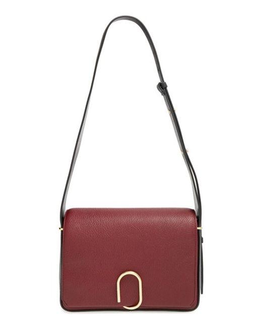 3.1 Phillip Lim | Purple 'alix' Flap Shoulder Bag - Burgundy | Lyst