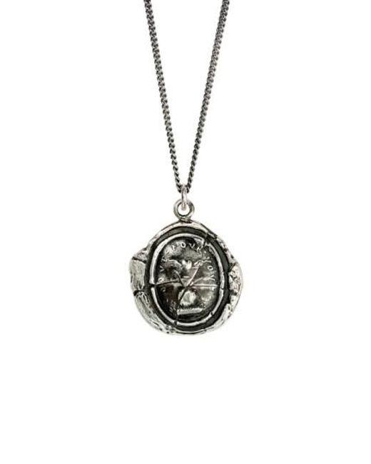 Pyrrha | Metallic Winged Heart Talisman Necklace | Lyst