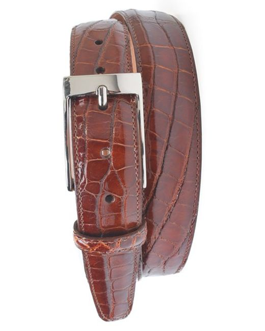 Martin Dingman | Brown 'joseph' Genuine American Alligator Leather Belt for Men | Lyst