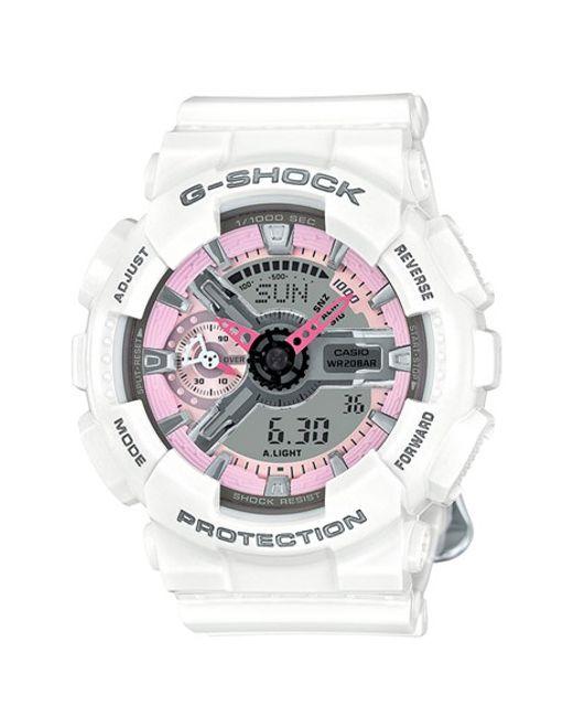 G-Shock | White G-shock 'ana-digi' Resin Watch | Lyst