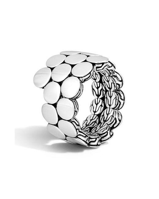 John Hardy | Metallic 'dot' Double Coil Ring | Lyst