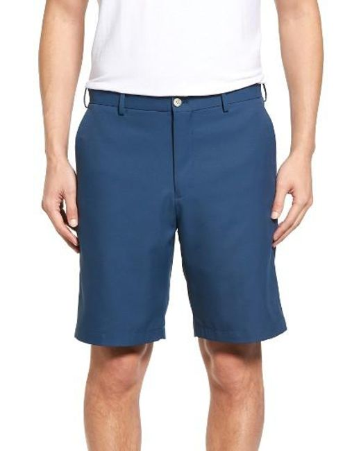 Peter Millar | Blue 'salem' Flat Front Performance Shorts for Men | Lyst