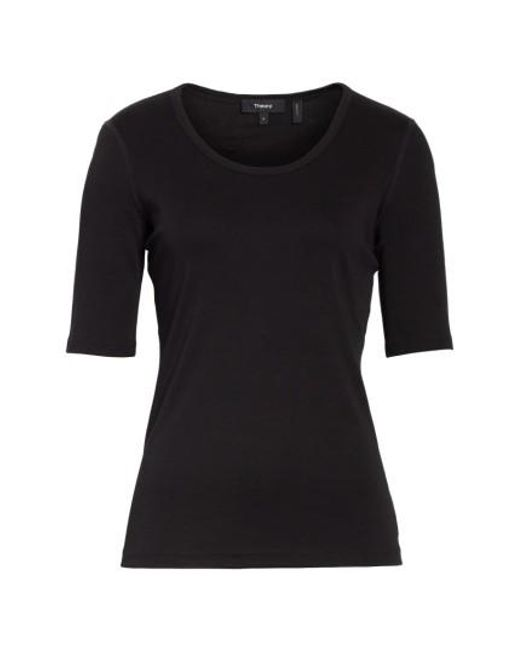 Theory | Black Pima Cotton Top | Lyst