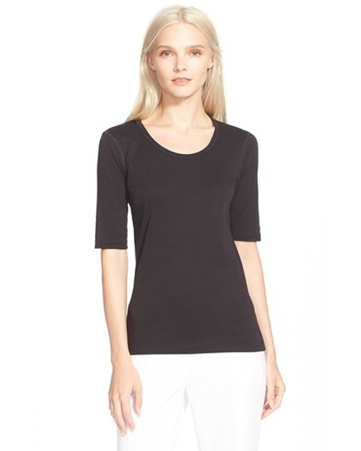 Theory | Black Pima Cotton Top | Lyst