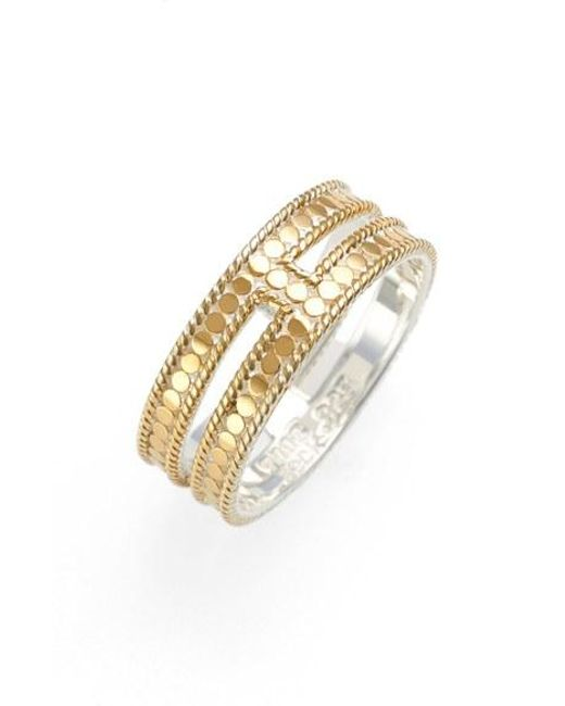 Anna Beck | Metallic Double Bar Band Ring | Lyst