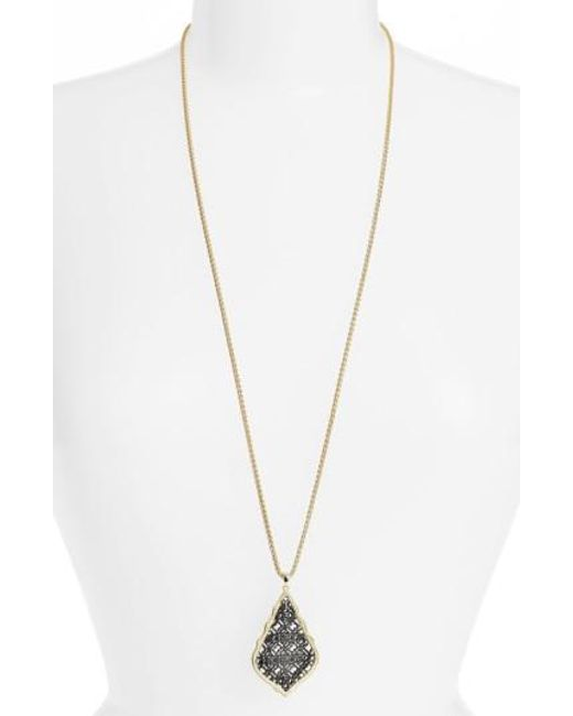 Kendra Scott   Metallic 'aiden' Pendant Necklace   Lyst