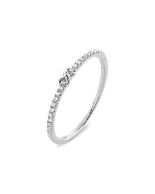 Bony Levy | White Stackable Knot Pave Diamond Ring (nordstrom Exclusive) | Lyst