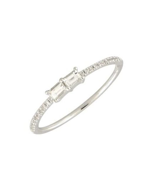 Bony Levy | White Double Baguette Diamond Ring (nordstrom Exclusive) | Lyst