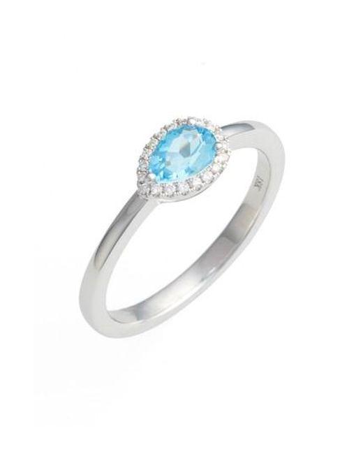 Bony Levy | Blue Iris Diamond & Semiprecious Stone Teardrop Ring (nordstrom Exclusive) | Lyst