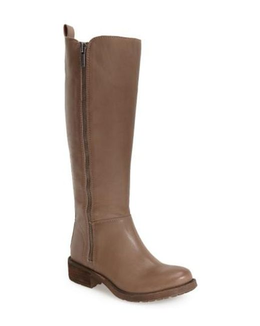 Lucky Brand | Brown Desdie Leather Tall Boots | Lyst