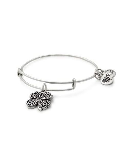 ALEX AND ANI - Metallic Four-leaf Clover Adjustable Wire Bangle (nordstrom Exclusive) - Lyst