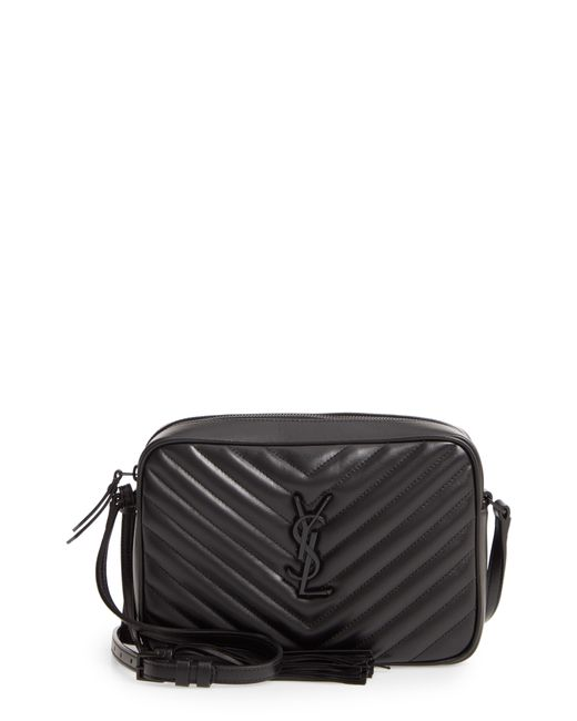 a357a488d Saint Laurent - Black Lou Matelassé Calfskin Leather Camera Bag - Lyst ...