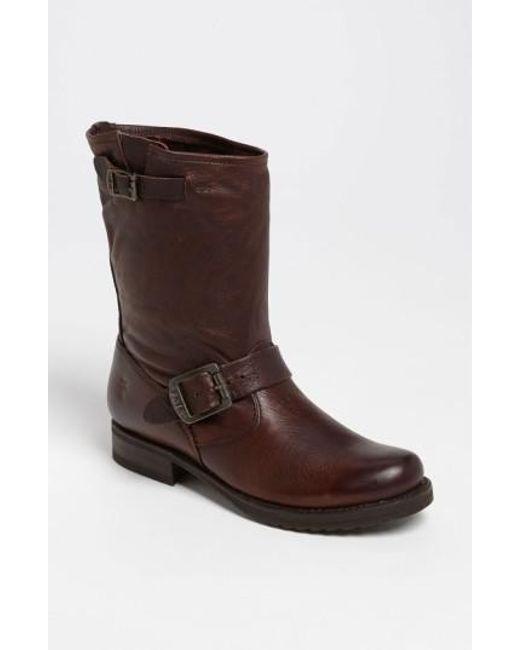 Frye | Brown 'veronica Shortie' Slouchy Boot | Lyst