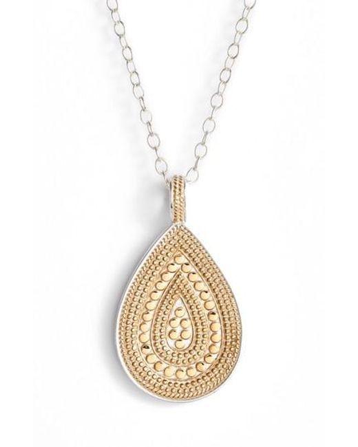 Anna Beck | Metallic Signature Reversible Long Necklace | Lyst