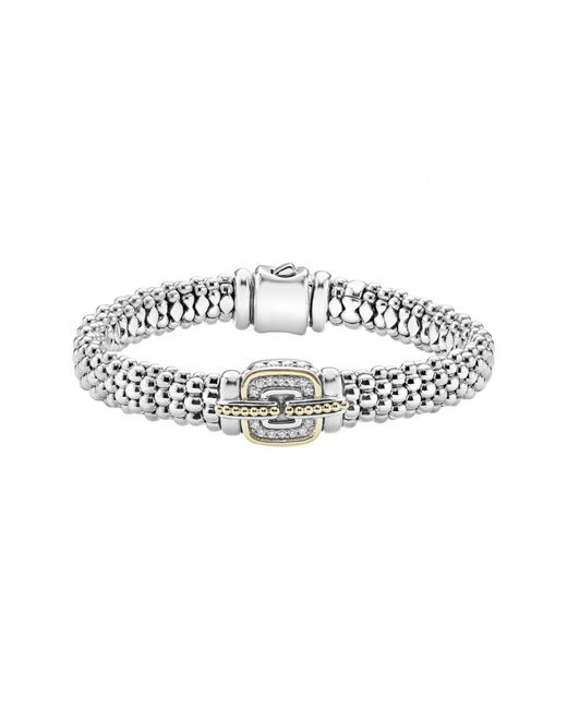 Lagos - Metallic Cushion Caviar Bracelet - Lyst