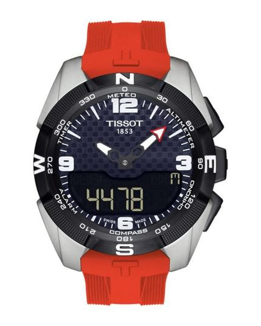 Tissot   Metallic T-touch Expert Solar Multifunction Smartwatch for Men   Lyst