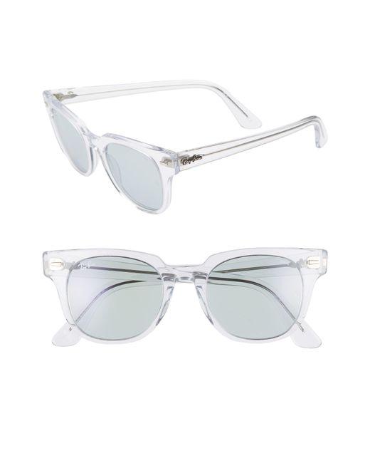 8133ddd8e9 Ray-Ban - Meteor 50mm Wayfarer Photochromic Sunglasses - Crystal  Blue Solid  - Lyst