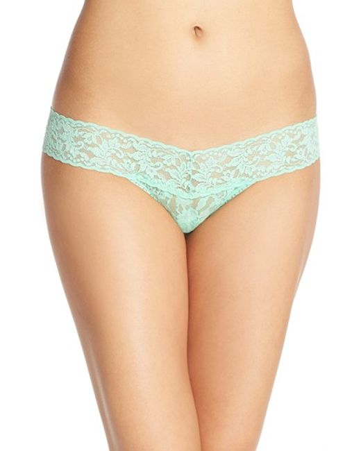 Hanky Panky signature Lace Low Rise Thong In Green Lyst