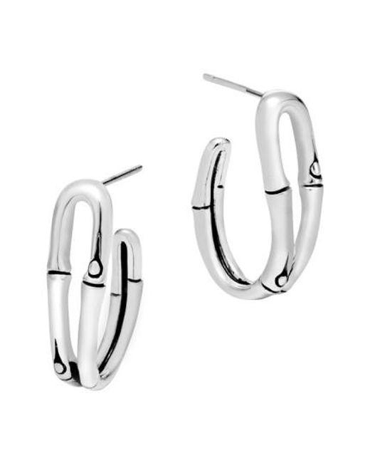 John Hardy - Metallic 'bamboo' Small Hoop Earrings - Lyst