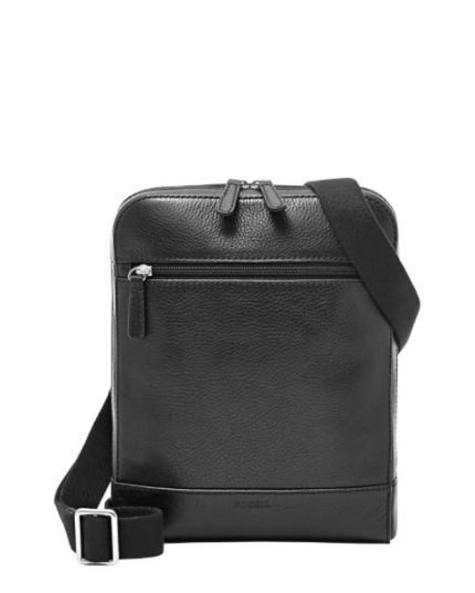 Fossil - Black 'rory' Leather Crossbody Bag for Men - Lyst