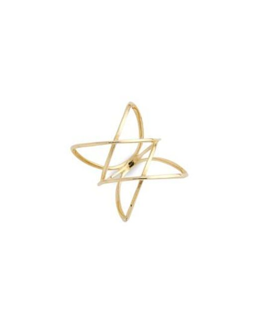 Bony Levy | Yellow 14kt Double Crisscross Ring (nordstrom Exclusive) | Lyst