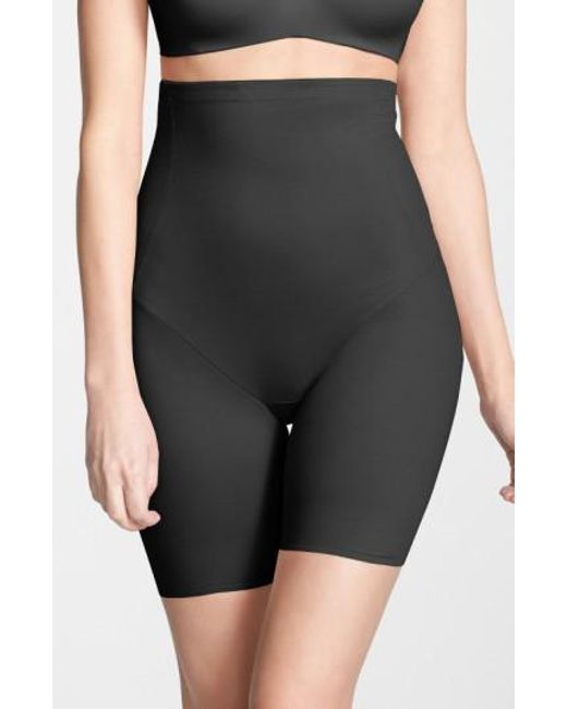 Tc Fine Intimates | Black 'shape Away' High Waist Shaping Thigh Slimmer | Lyst