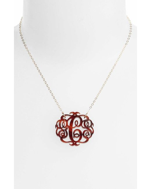 Moon & Lola - Multicolor Medium Oval Personalized Monogram Pendant Necklace (nordstrom Exclusive) - Lyst