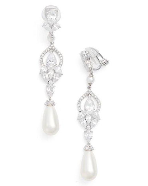 Nadri | Metallic Cubic Zirconia Clip Drop Earrings | Lyst