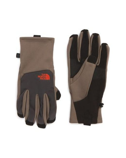 The North Face | Brown 'canyonwall' Etip Gloves for Men | Lyst