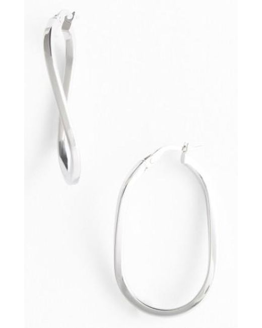 Roberto Coin | Yellow Twisted Gold Hoop Earrings | Lyst
