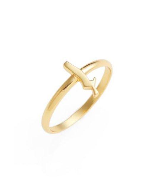 Argento Vivo   Metallic Gothic Initial Ring   Lyst