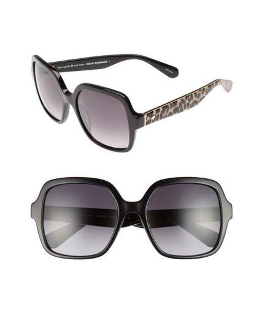 Kate Spade | Black 'katels' 54mm Sunglasses | Lyst