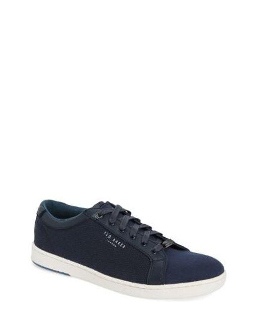 Ted Baker | Blue Ternur Geo Print Sneaker for Men | Lyst