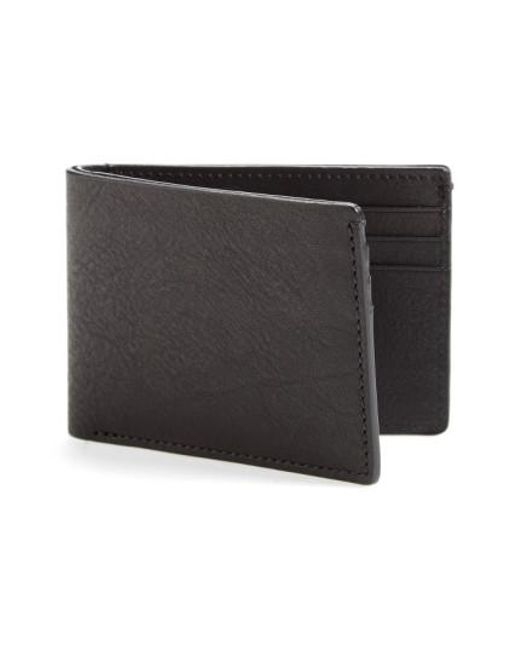 Bosca - Black Leather Wallet for Men - Lyst