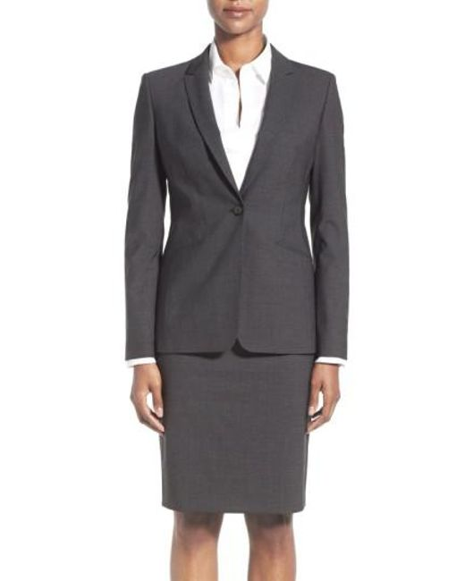 BOSS - Gray Jabina Tropical Stretch Wool Jacket - Lyst