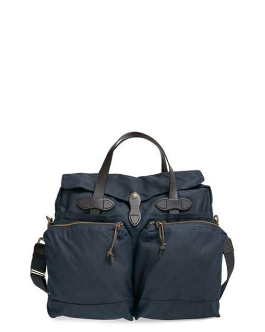 Filson | Natural '24 Hour' Tin Cloth Briefcase for Men | Lyst