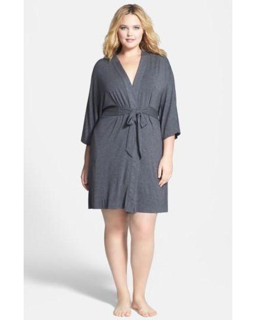 DKNY   Gray 'urban Essentials' Robe   Lyst