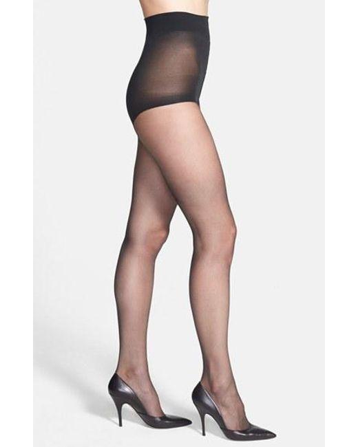 Donna Karan | Gray Donna Karan The Nudes Control Top Pantyhose | Lyst