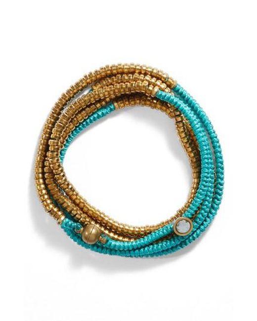 Serefina | Blue Beaded Wrap Bracelet | Lyst