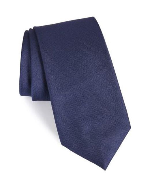 Calibrate - Blue Clara Solid Silk Tie for Men - Lyst