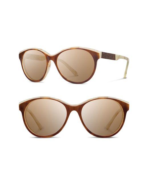 Shwood - Gray 'madison' 54mm Polarized Sunglasses - - Lyst